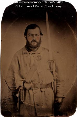 George Pepper, Civil War, tintype, ca. 1861