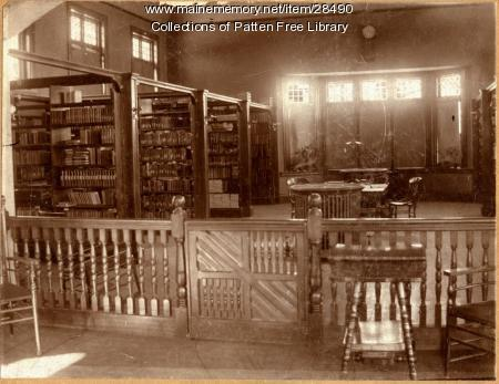 Patten Free Library Interior, ca.1891