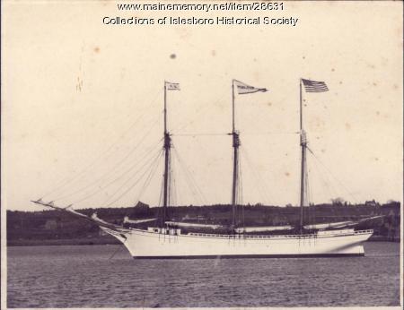 "The Schooner ""Pendleton Sisters,"" Islesboro, ca. 1900"