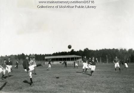 Association Football [Soccer] Game, Saco, ca. 1912