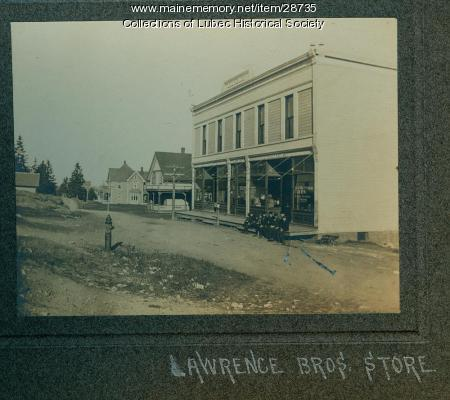 Lawrence Brothers store, Lubec, ca. 1906