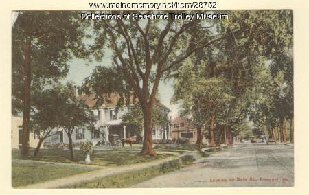 Looking Up Main Street, Freeport, ca. 1912