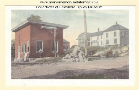 Portland, Gray and Lewiston Electric Railroad Station, ca. 1910