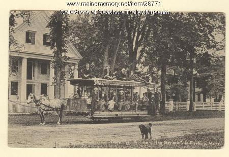 Fryeburg Horse Railroad, ca. 1910