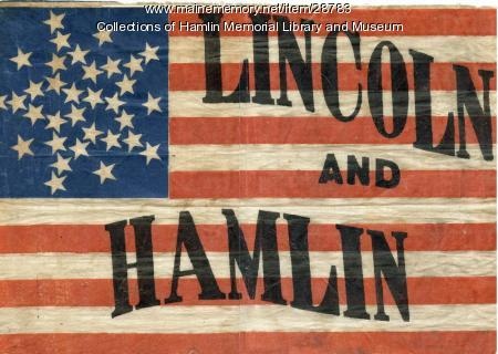 Lincoln/Hamlin Campaign Flag, 1860
