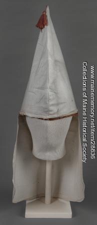 Ku Klux Klan hood, Hollis, ca. 1925