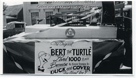 Bert the Turtle, Rockland, ca. 1957