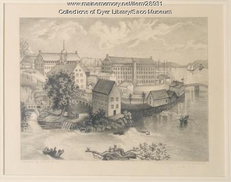 Factory Island, Saco, ca. 1840