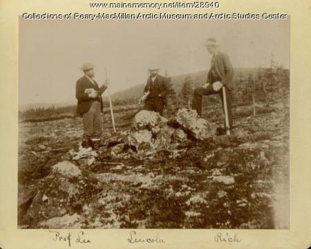 Exploring an Inuit grave on Eskimo Island, Labrador, 1891