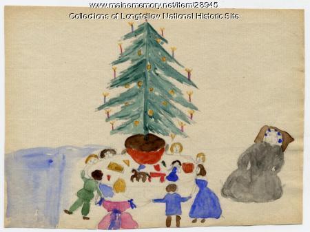 Longfellow Christmas Scene, 1862
