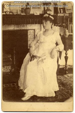 Mary King Longfellow as Nelly Custis, Cambridge, ca. 1879
