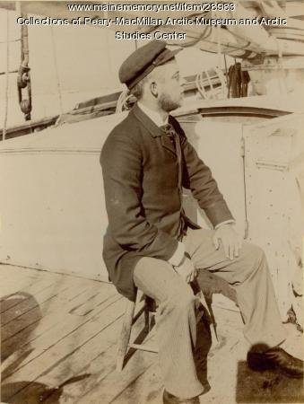 Ralph H. Hunt aboard the 'Julia A. Decker,' Nova Scotia, 1891