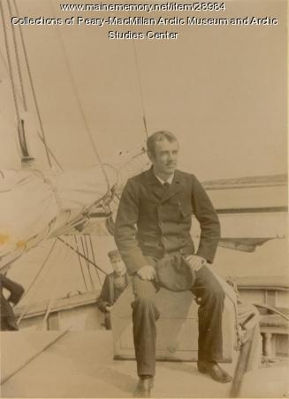 Walter R. Hunt aboard the 'Julia A. Decker,' Nova Scotia, 1891