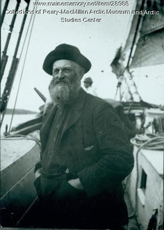 Captain N.P. Spear aboard the 'Julia A. Decker,' 1891
