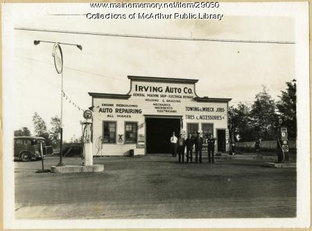 Irving Auto Company/Tydol Gas Station, Biddeford, 1930