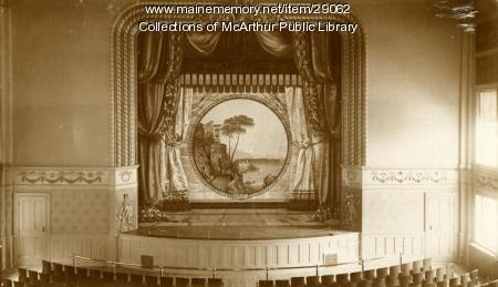 City Opera House stage, Biddeford, ca. 1890