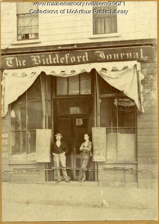 Biddeford Journal Office, ca. 1899