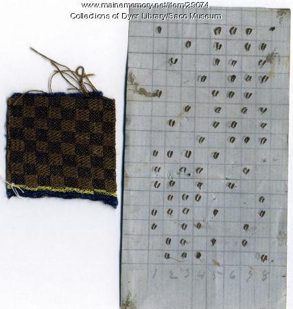 Fabric Sample & Paper Pattern, York Mills, 1842