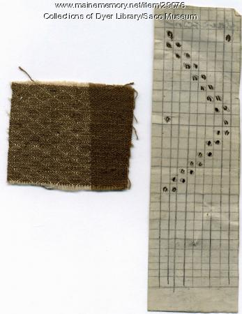 Fabric Remnant & Weaving Pattern, York Mills, 1842