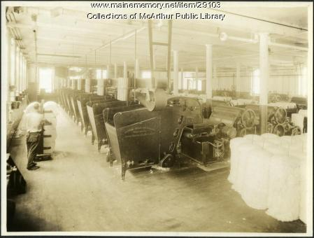 Picker machines at Pepperell Mills, Biddeford circa 1925