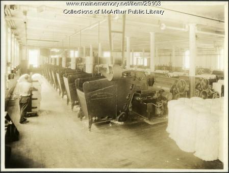 Picker machines at Pepperell Mills, Biddeford ca. 1925