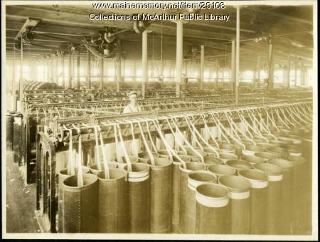 Slubbers at Pepperell Mills, Biddeford, ca. 1925