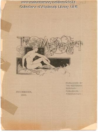 The Messenger, November 1893, Westbrook Seminary