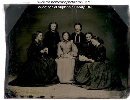 Westbrook Seminary students, ca. 1855