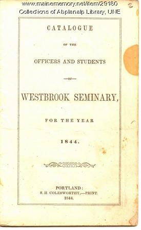 Westbrook Seminary Catalogue, 1844