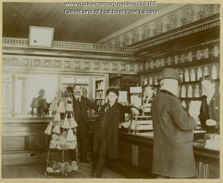 Dr. Clearwater's Pharmacy, Hallowell, ca. 1904