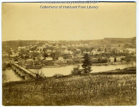 Hallowell viewed from Chelsea, Hallowell Chelsea Bridge, ca. 1865