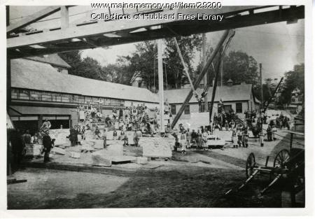 Hallowell Granite Works stone yard, Hallowell, ca. 1895