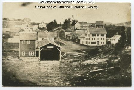Oldest known photograph of Guilford, Covered Bridge, ca. 1850
