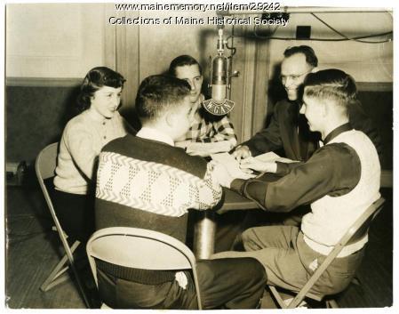 Youth radio panel, 1953