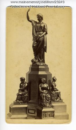 National Monument to the Forefathers model, Hallowell, ca. 1889