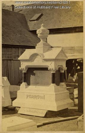 Pearson Monument, Hallowell Granite Works, ca.1880