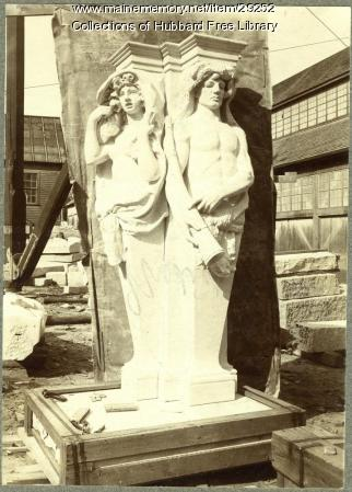 Spring and Summer, Hallowell Granite Works, ca. 1900