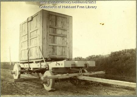Moving Granite, Outer Winthrop Street, Hallowell, ca. 1890