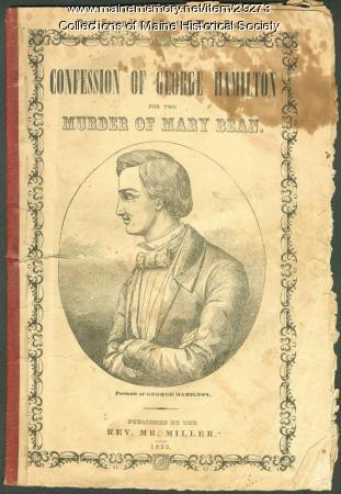 Cover, 'Confession of George Hamilton,' 1852