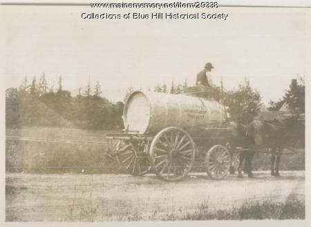 Sprinkler wagon, Blue Hill, ca. 1910