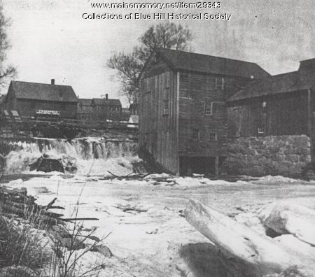 Sawmill at Mill Stream, Blue Hill, ca. 1910