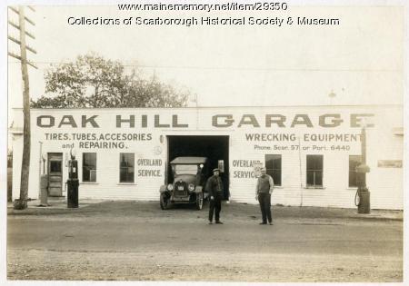 Oak Hill Garage, Scarborough, 1922