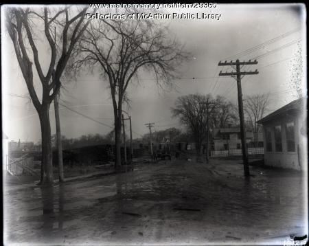 Milled lumber piles, Biddeford or Saco, ca. 1915