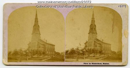 Pavilion Congregational Church, Biddeford, ca. 1875