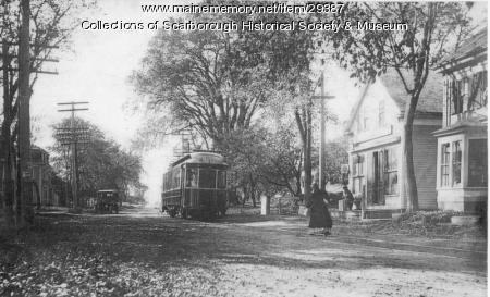 Trolley at Dunstan, Scarborough, ca. 1910