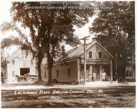 G.W. Knight Store, Dunstan Corner, ca. 1910