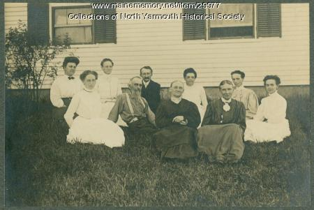 Dolloff family and friends, North Yarmouth, ca. 1900