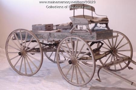 Loring Market Wagon, North Yarmouth, ca. 1910