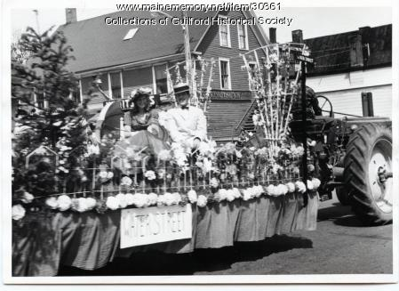 Water Street Parade float, Guilford, 1966