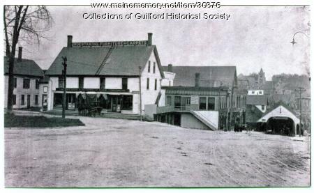 Bank Square and South Main Street, Guilford, ca. 1890
